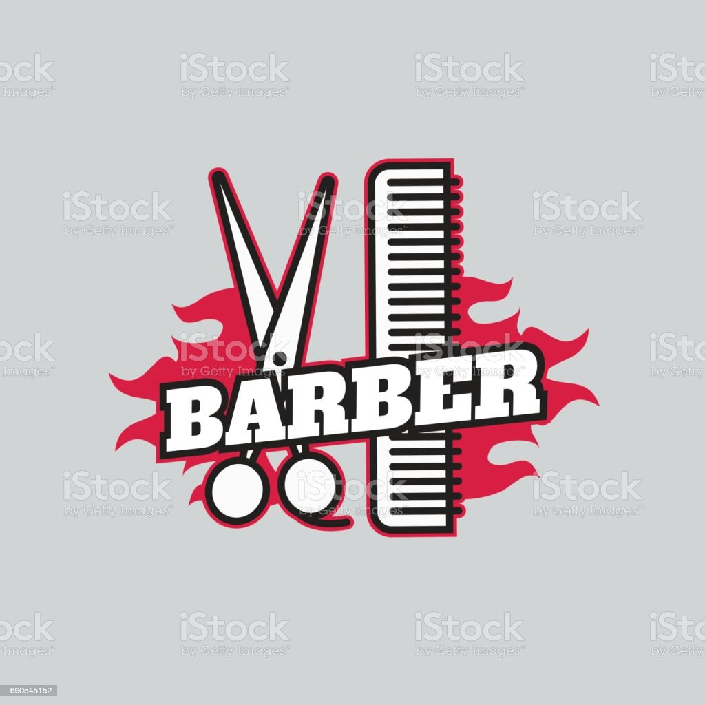 Clip art vector of vintage barber shop logo graphics and icon vector - Retro Barber Shop Icon Labels And Badges Vintage Vector Royalty Free Stock Vector Art