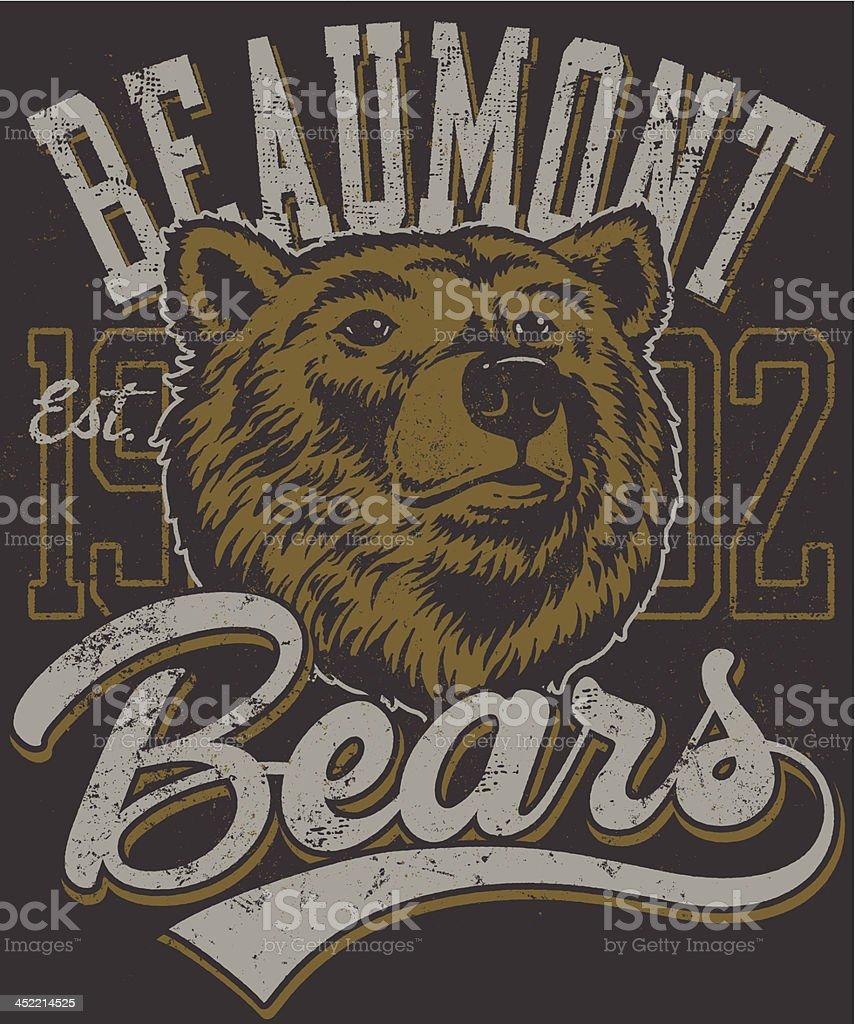 Retro Bears Mascot Design royalty-free stock vector art