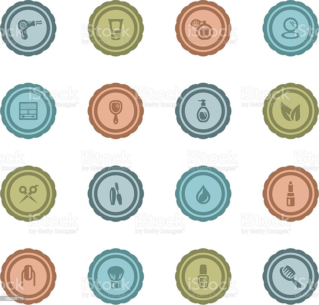 Retro Beauty Badges royalty-free stock vector art