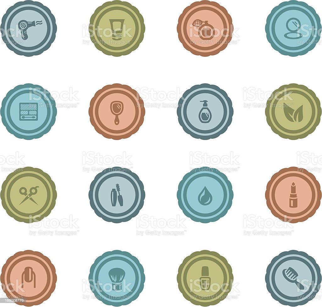 Retro Beauty Badges vector art illustration