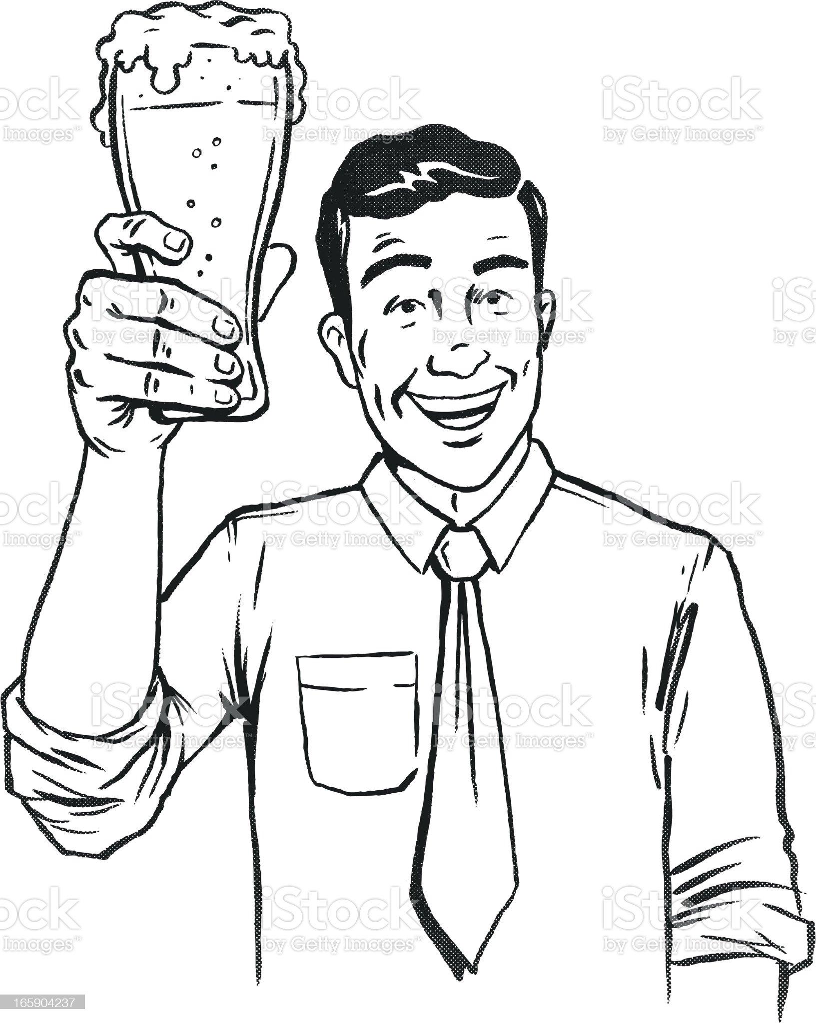 Retro Beer Toast royalty-free stock vector art