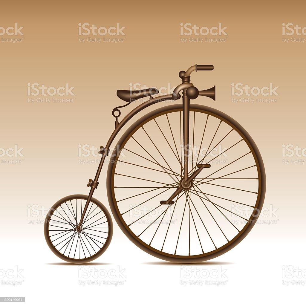 Retro bicycle vector art illustration