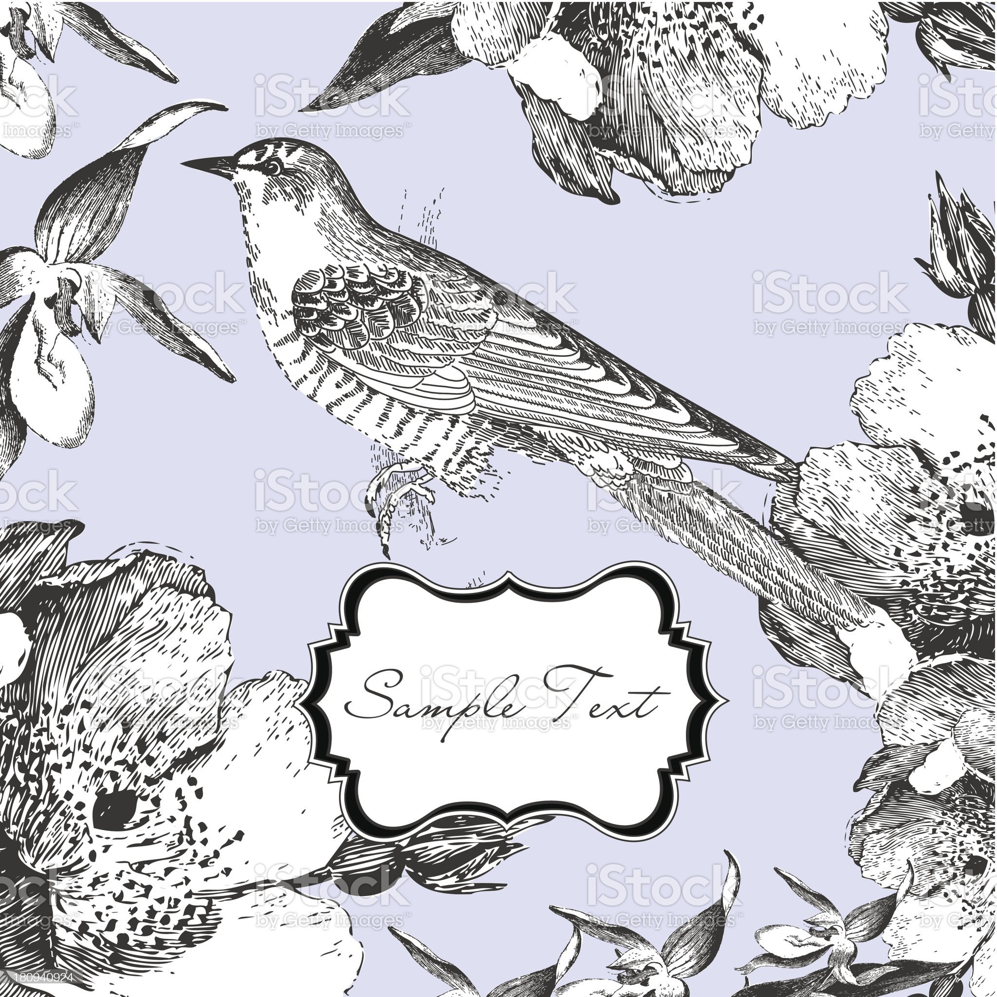 Retro Bird Illustration royalty-free stock vector art