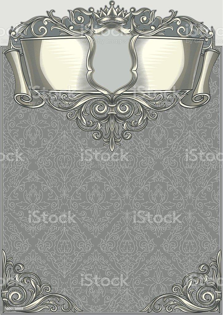 Retro blank royalty-free stock vector art