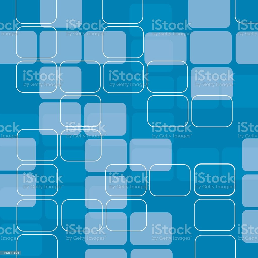 Retro blue and white squares background royalty-free stock vector art