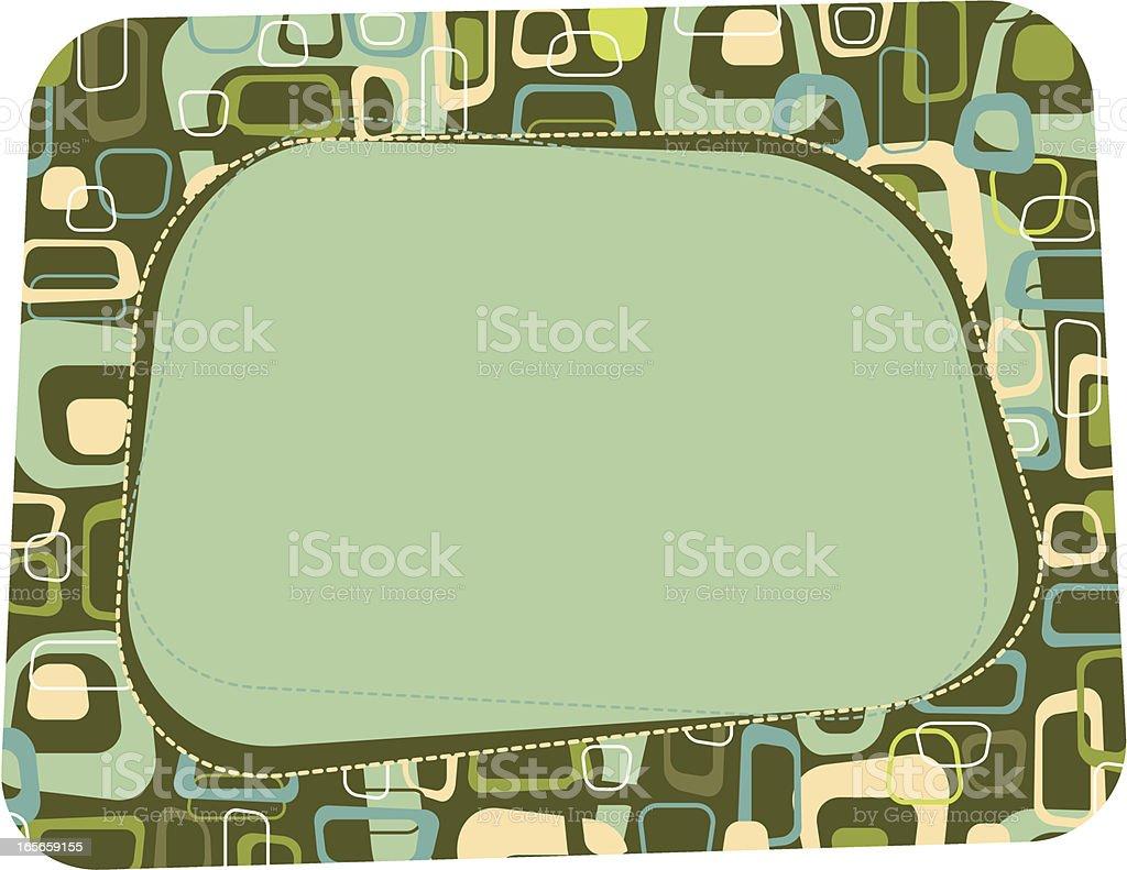 Retro Box Border royalty-free stock vector art