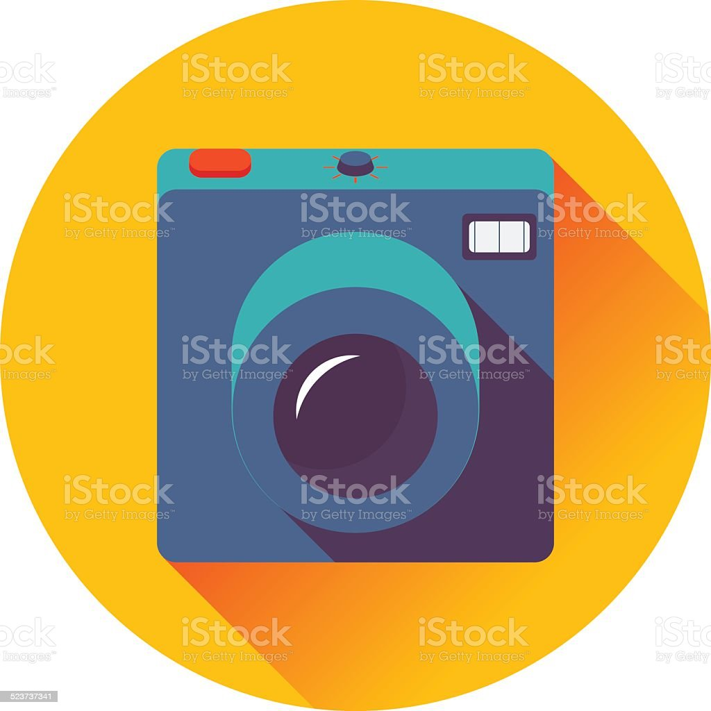 retro cameral icon vector art illustration