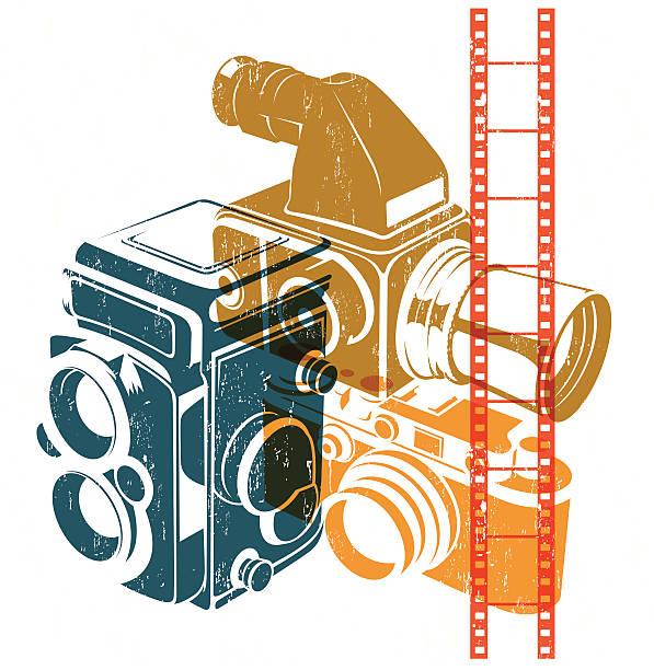 Vintage Medium Format Camera Clip Art, Vector Images