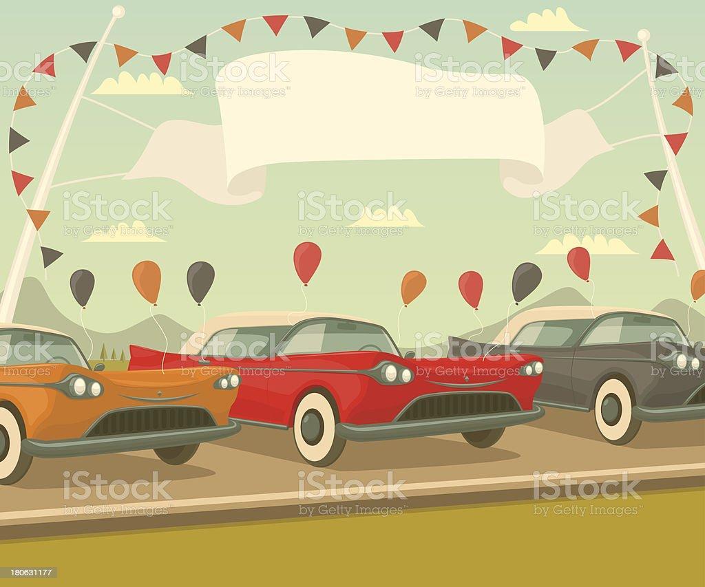 Retro car sale royalty-free stock vector art