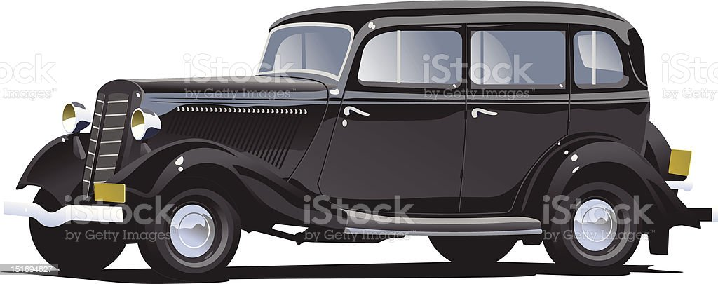 retro car royalty-free stock vector art