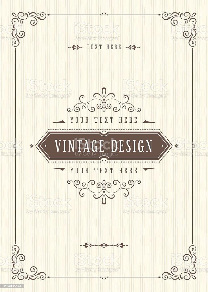Retro Card Design vector art illustration