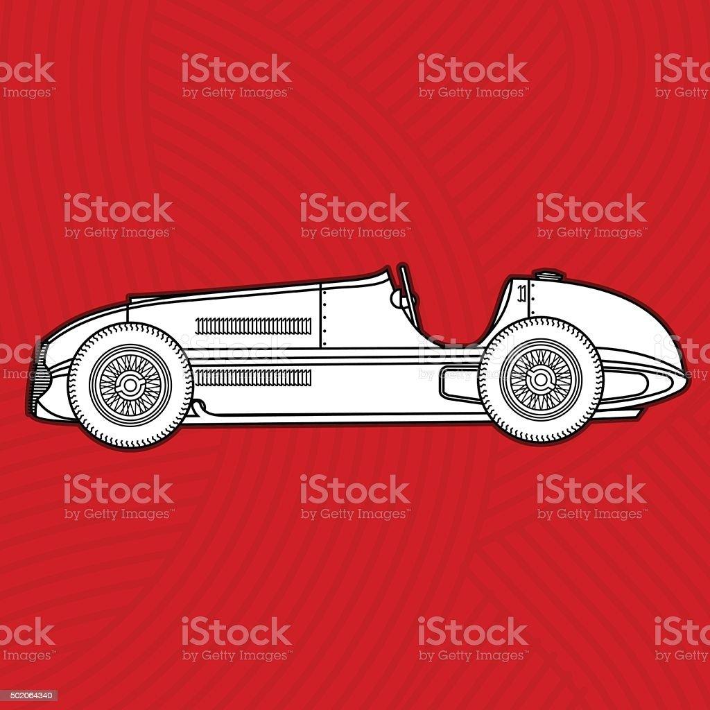 Retro Cars vector art illustration