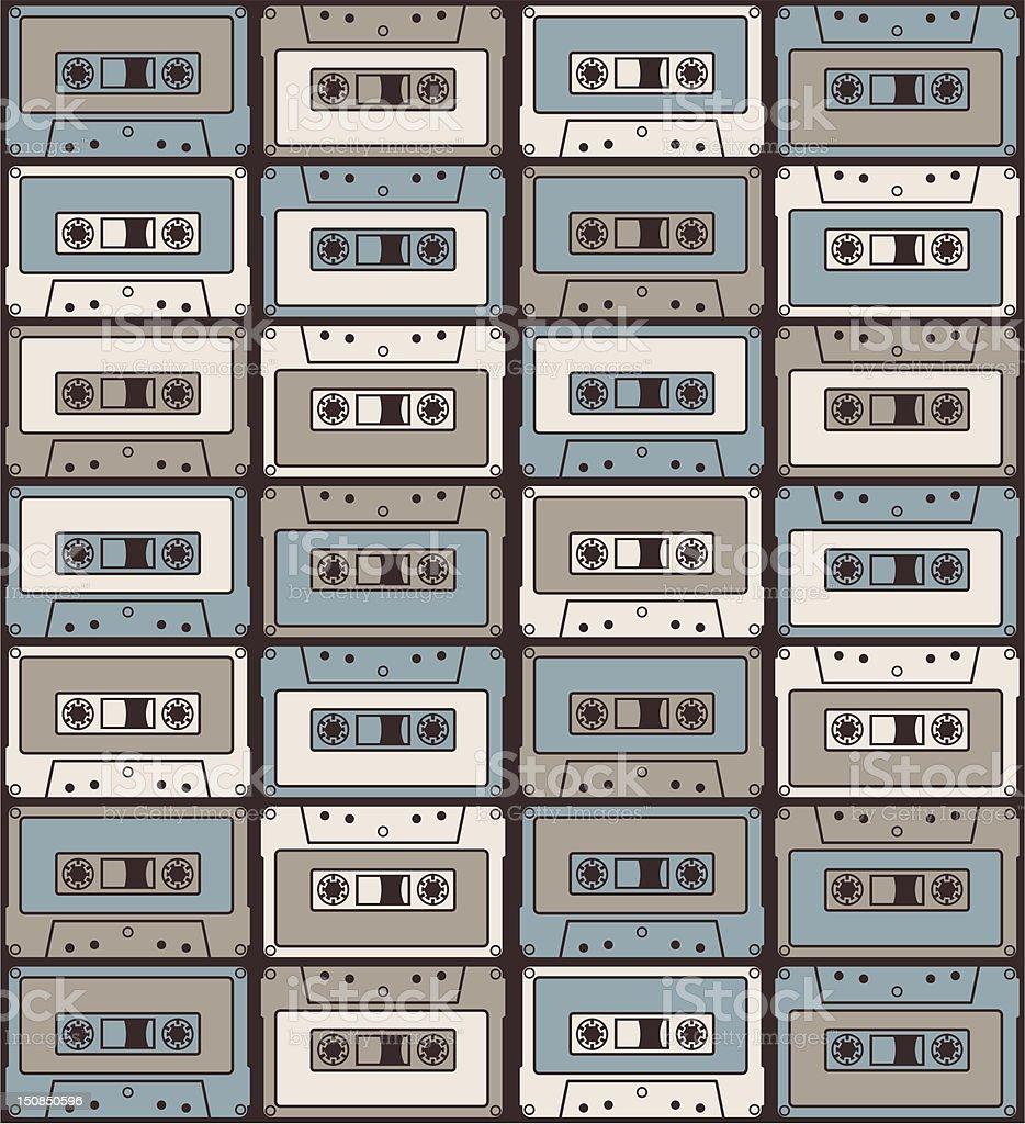 Retro Cassette vector art illustration