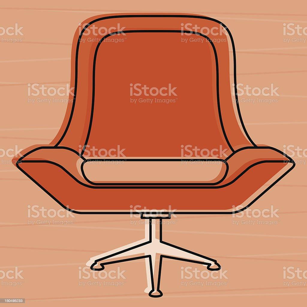 Retro Chair royalty-free stock vector art