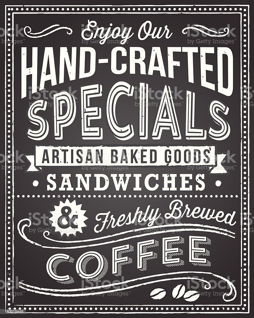 Chalkboard Menu Background vector art illustration