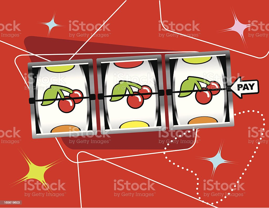 Retro Cherry Slots royalty-free stock vector art