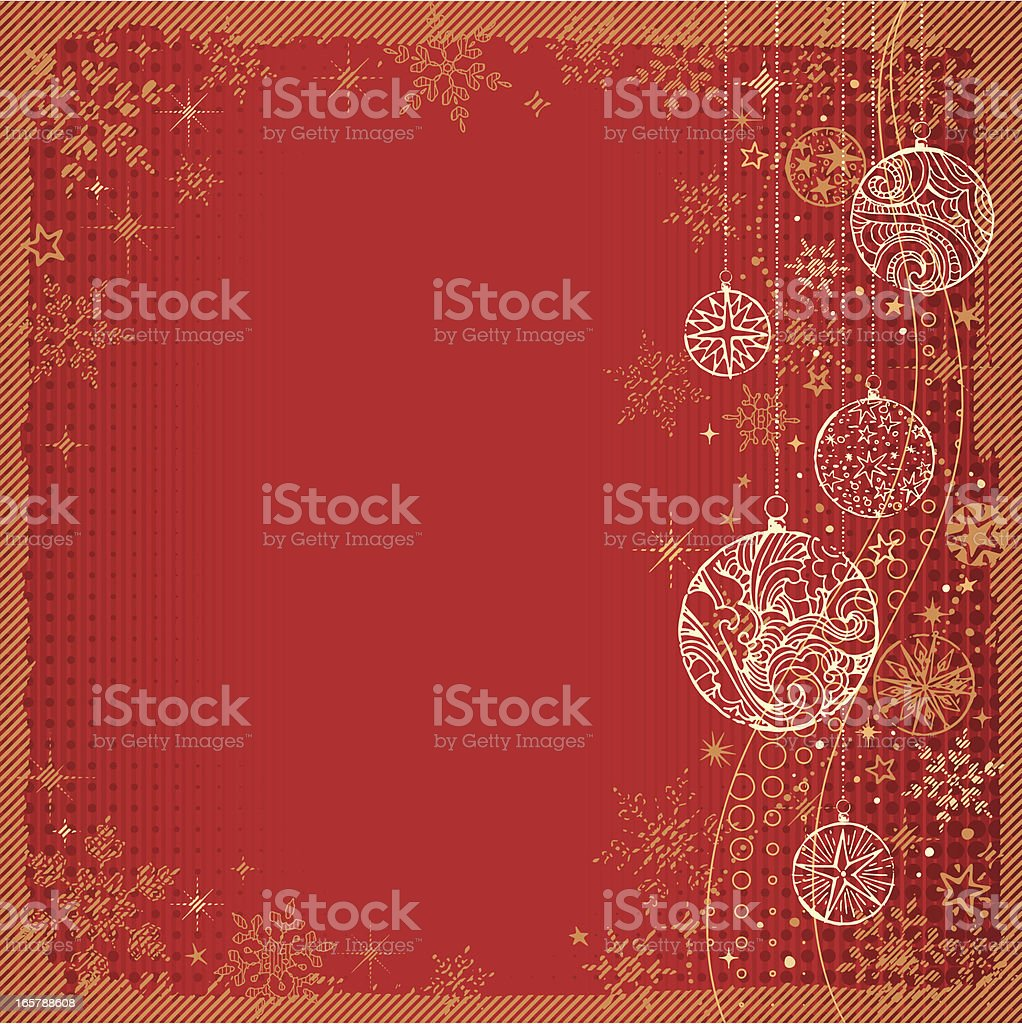 Retro Christmas Background royalty-free stock vector art