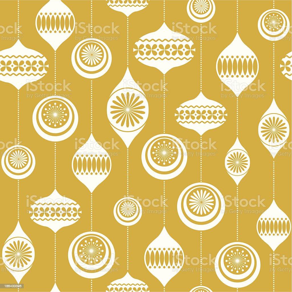 Retro Christmas bauble seamless vintage background vector art illustration
