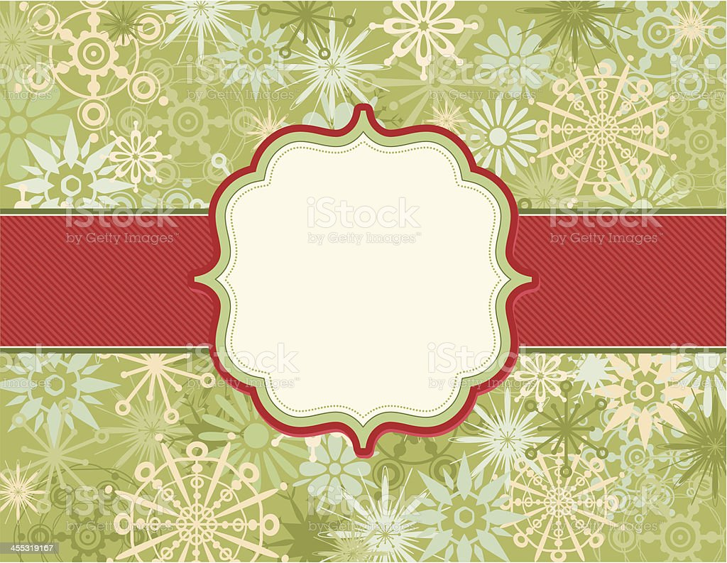 Retro Christmas Bookplate Background royalty-free stock vector art