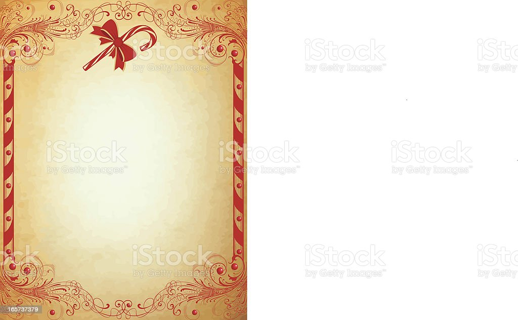 Retro Christmas Candy Cane page royalty-free stock vector art