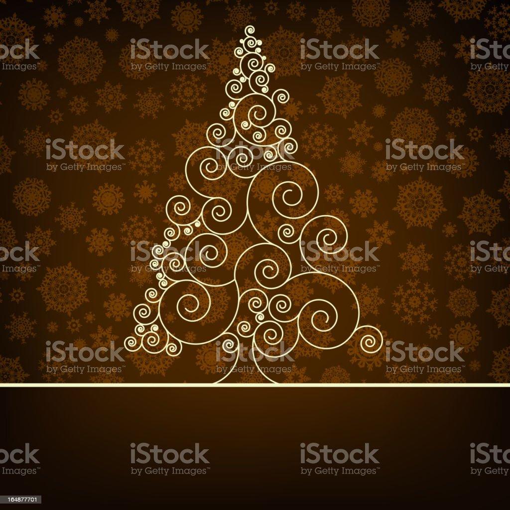 Retro christmas card Template. EPS 8 royalty-free stock vector art