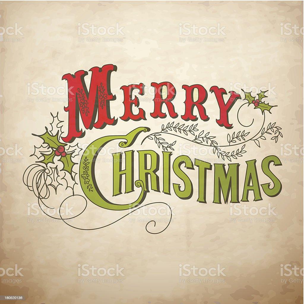 Retro Christmas Design royalty-free stock vector art