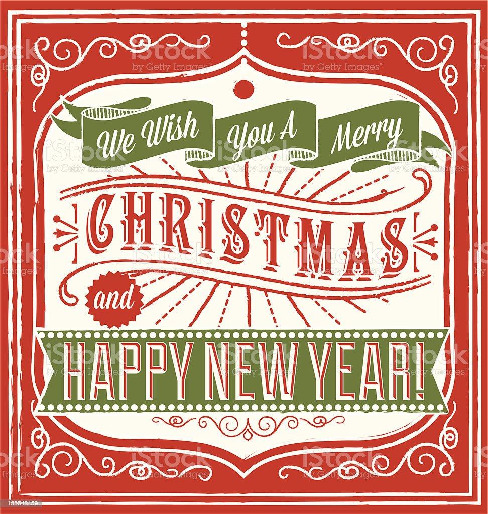Retro Christmas Greeting royalty-free stock vector art