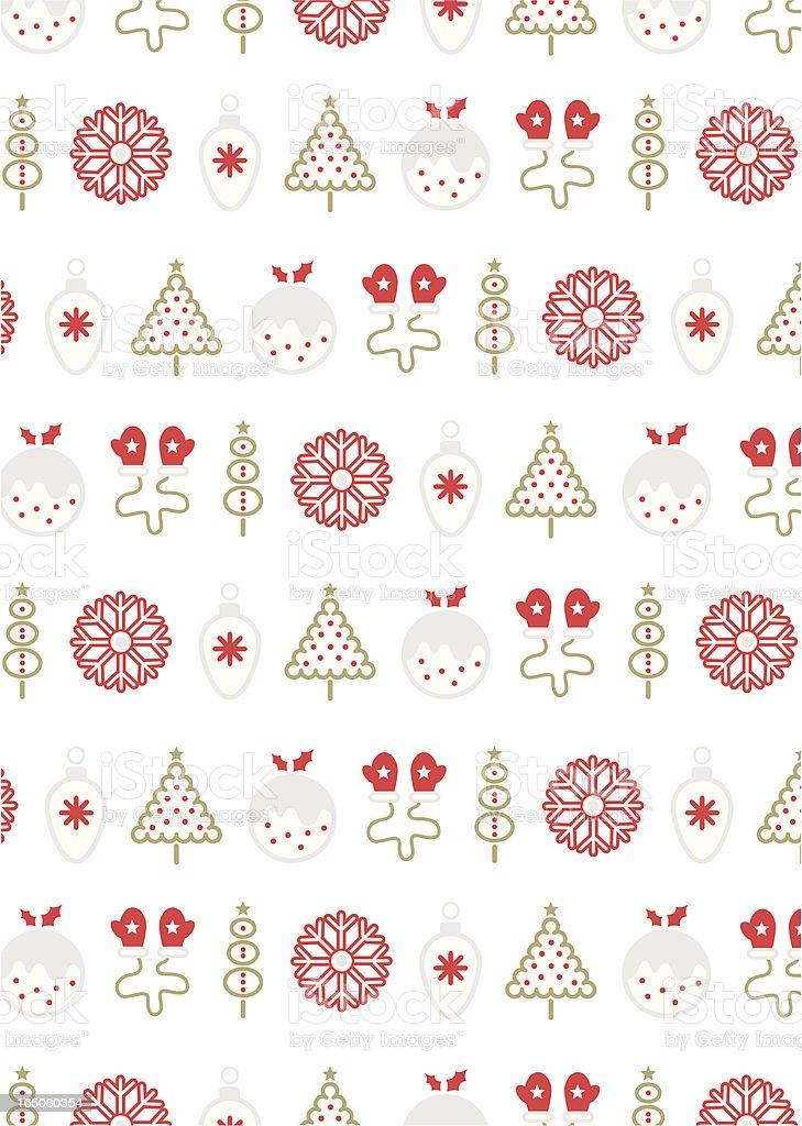 Retro Christmas Icons royalty-free stock vector art