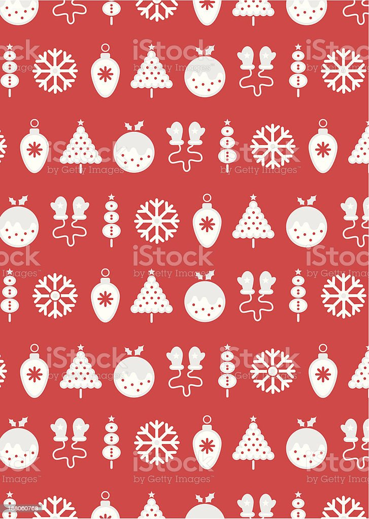 Retro Christmas Icons royalty-free stock vector art