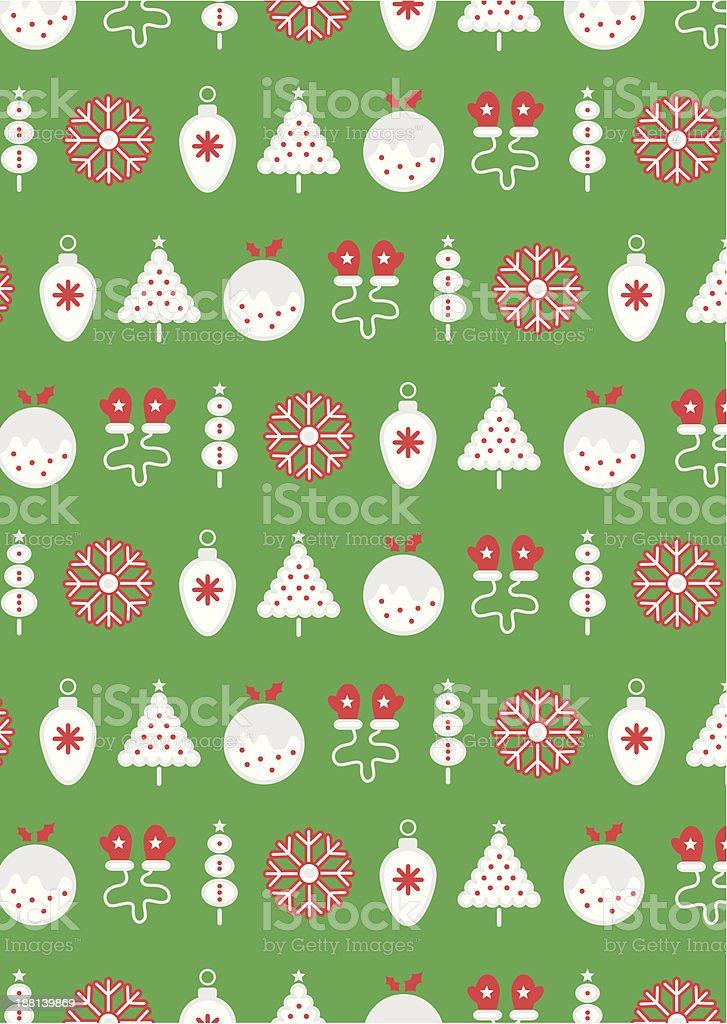 Retro Christmas Icons vector art illustration