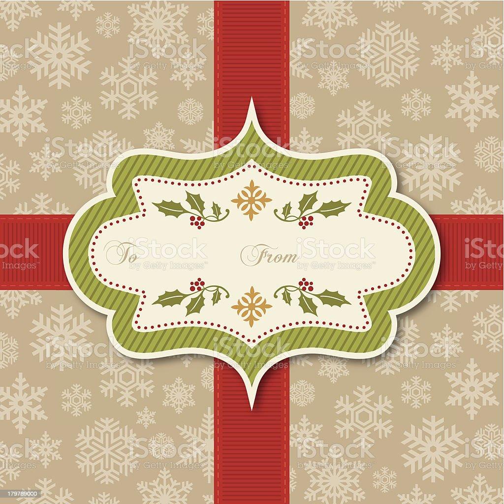 Retro Christmas Tag royalty-free stock vector art