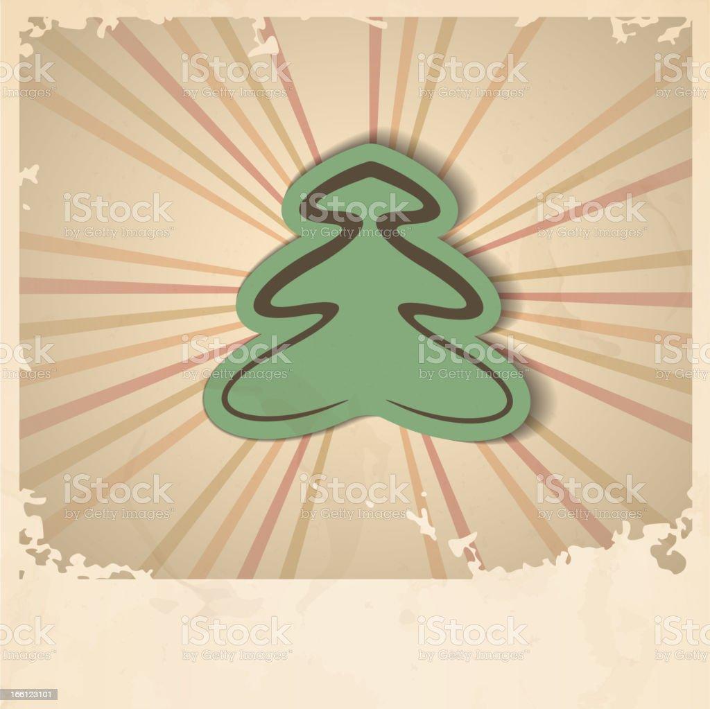 Retro Christmas Tree. royalty-free stock vector art