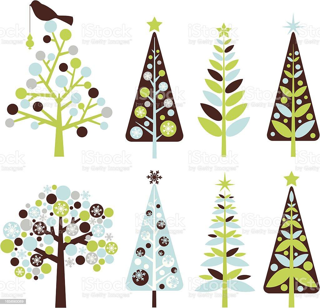 retro christmas trees stock vector art 165690089 istock