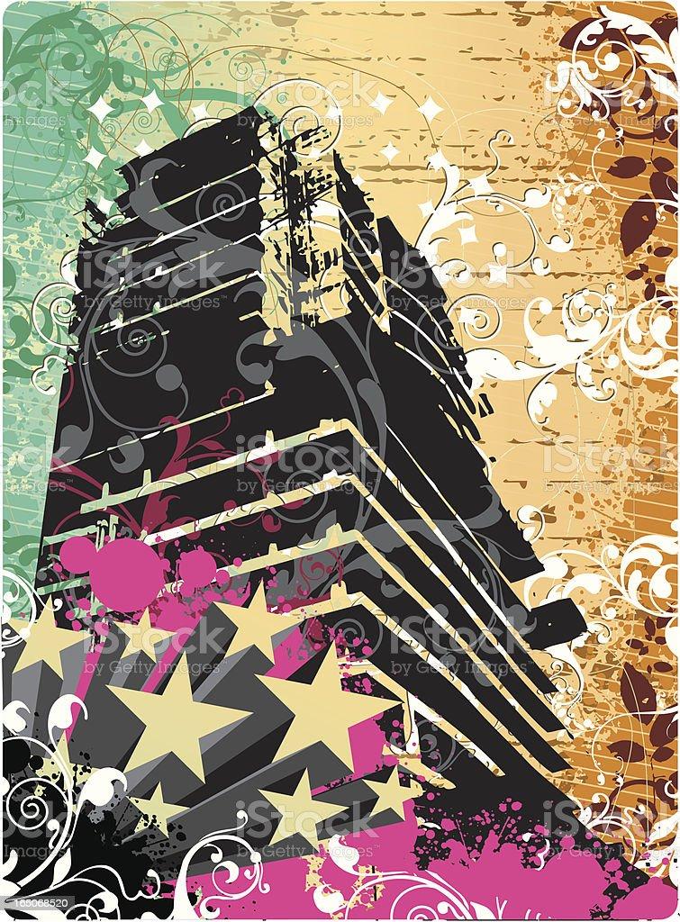 Retro city life. royalty-free stock vector art