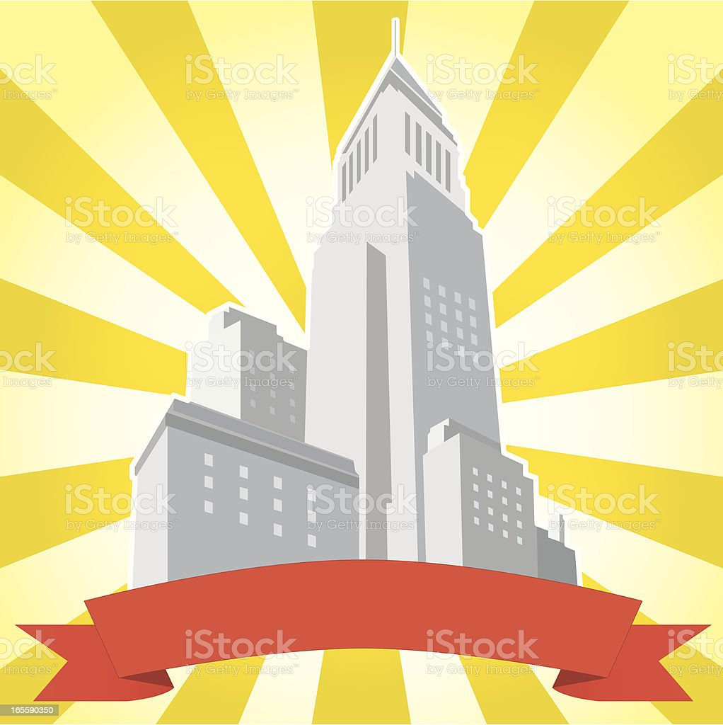Retro City Logo royalty-free stock vector art