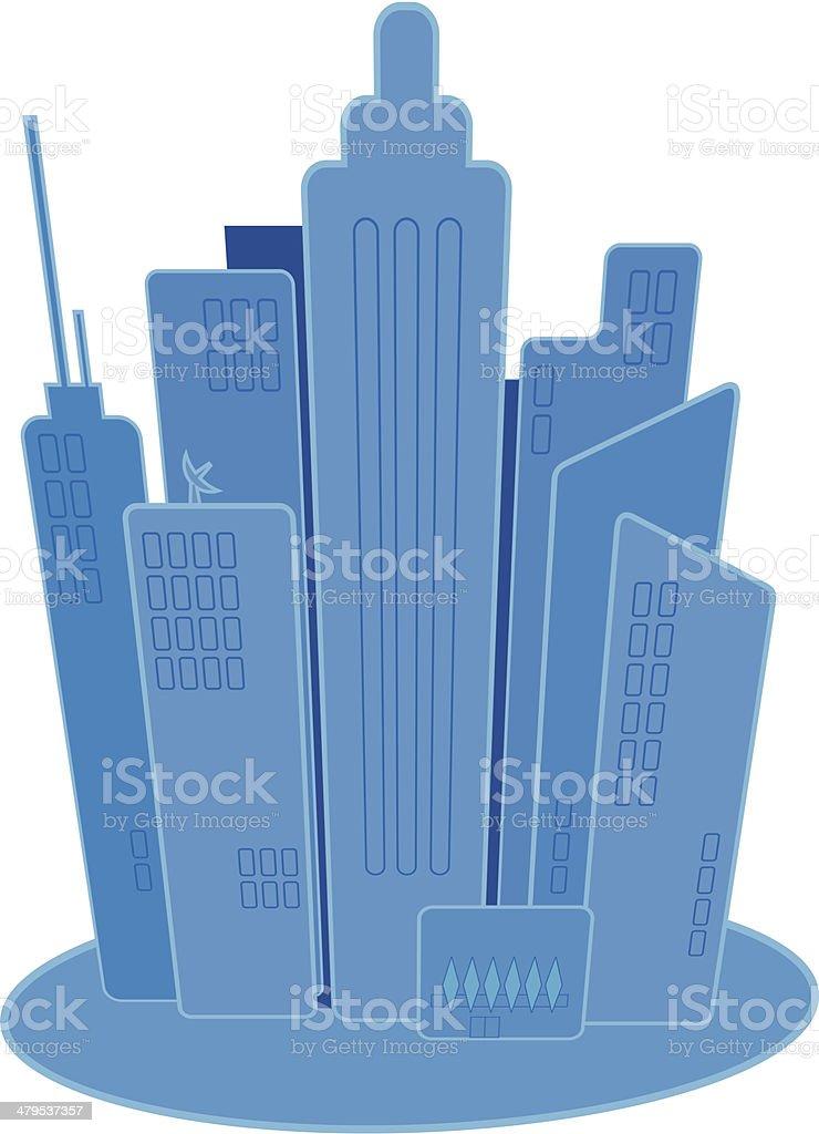 Retro Cityscape royalty-free stock vector art