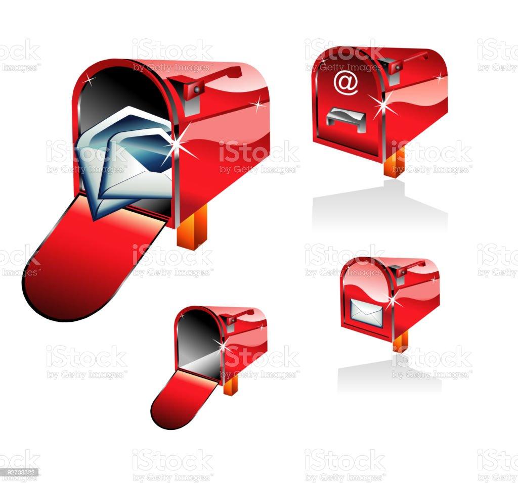 Retro Classic Mail Box royalty-free stock vector art