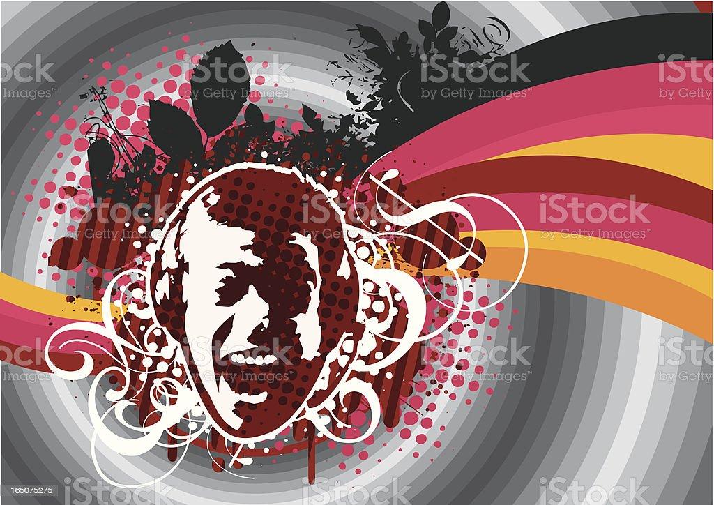 Retro classic style music design. royalty-free stock vector art