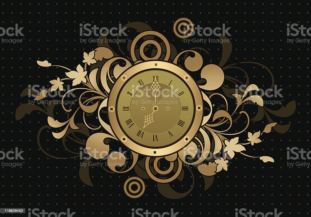 Retro clock royalty-free stock vector art