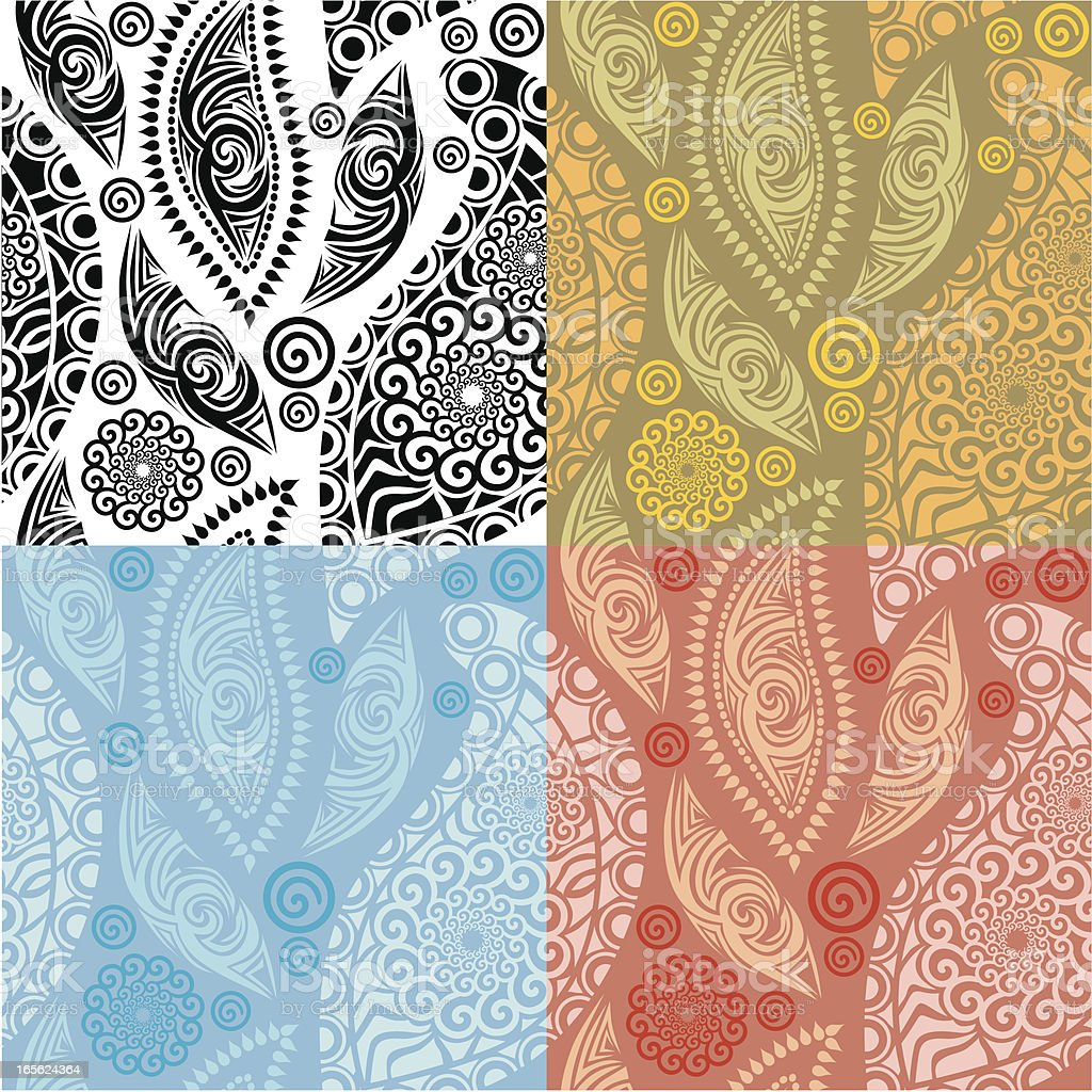 Retro colorful paisley. royalty-free stock vector art
