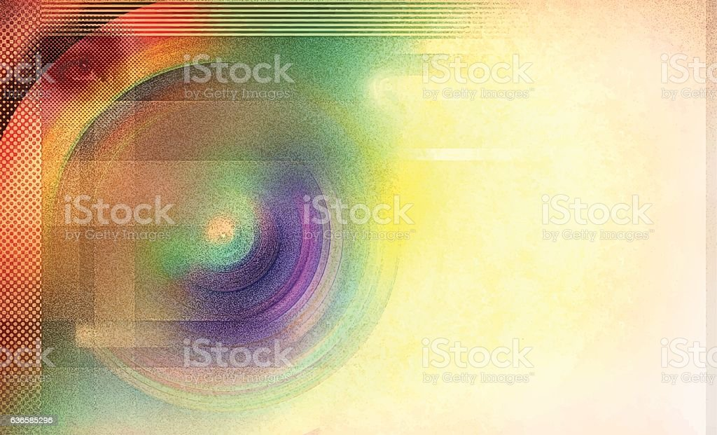 Retro Colorful Radial Background vector art illustration