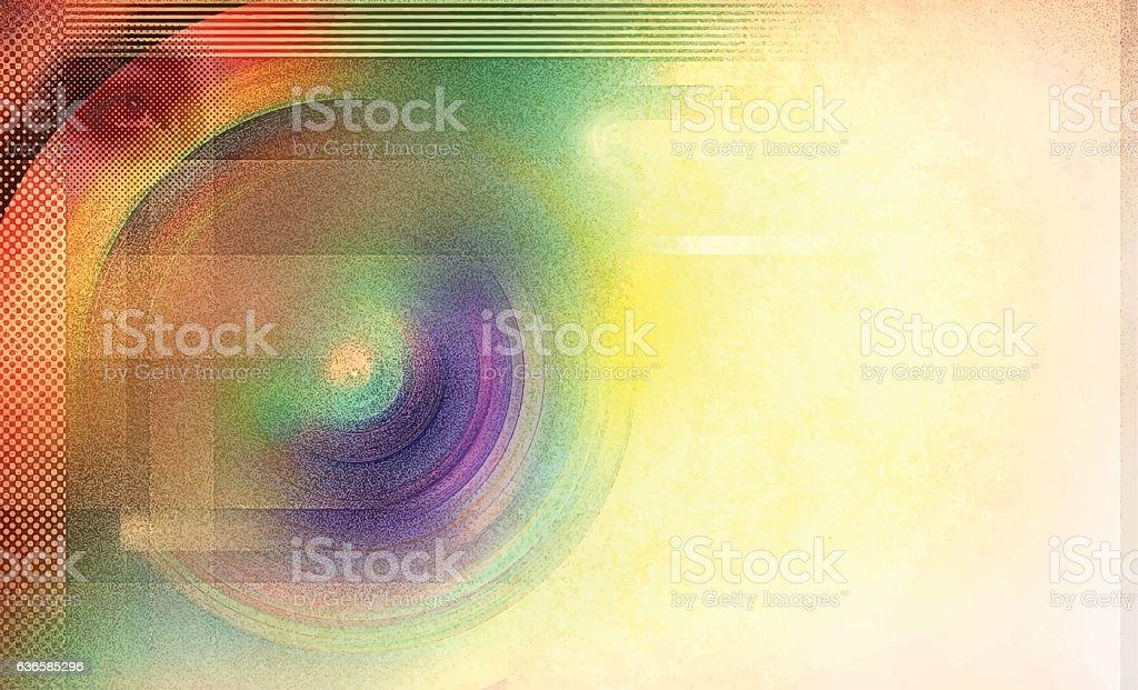 Retro Colorful Radial Background vector art illustration