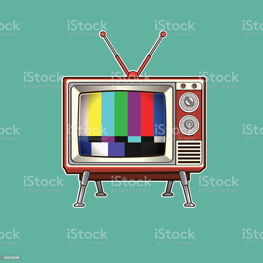 Retro Colorful TV vector illustration vector art illustration