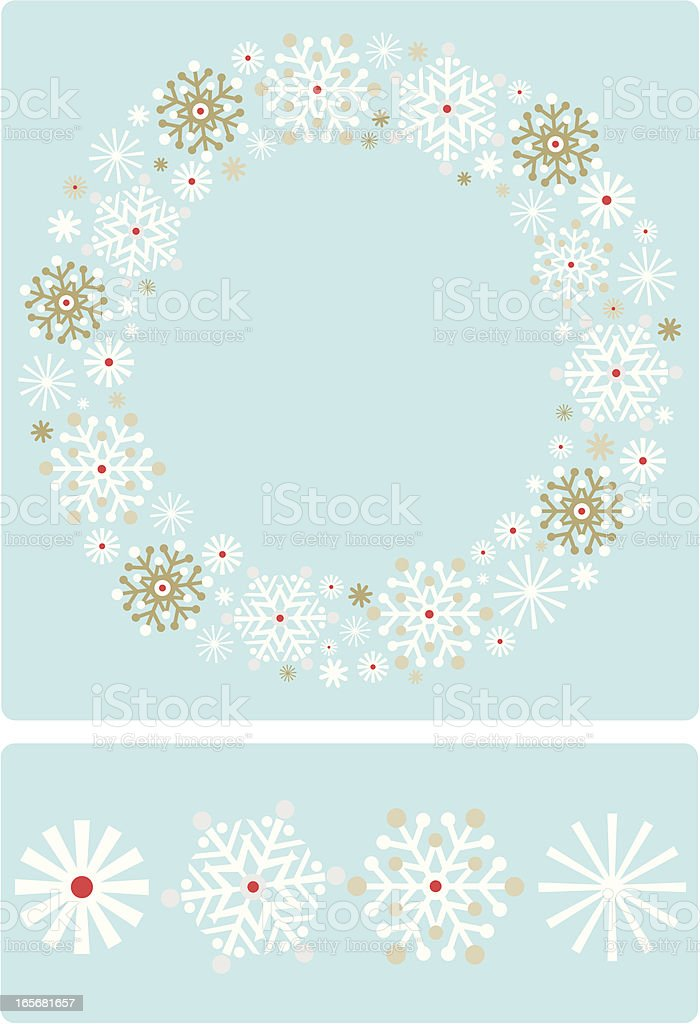 Retro Cool Snowflake Wreath royalty-free stock vector art
