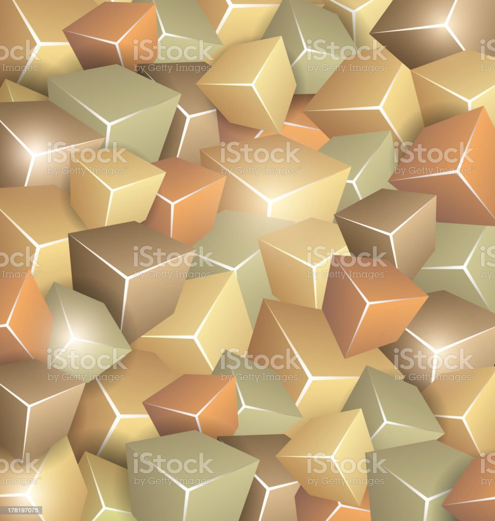 Retro Cubes Background royalty-free stock vector art
