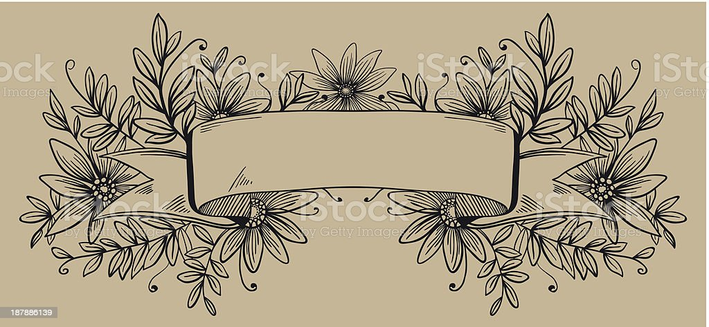 retro decorative frame or banner for text decoration royalty-free stock vector art