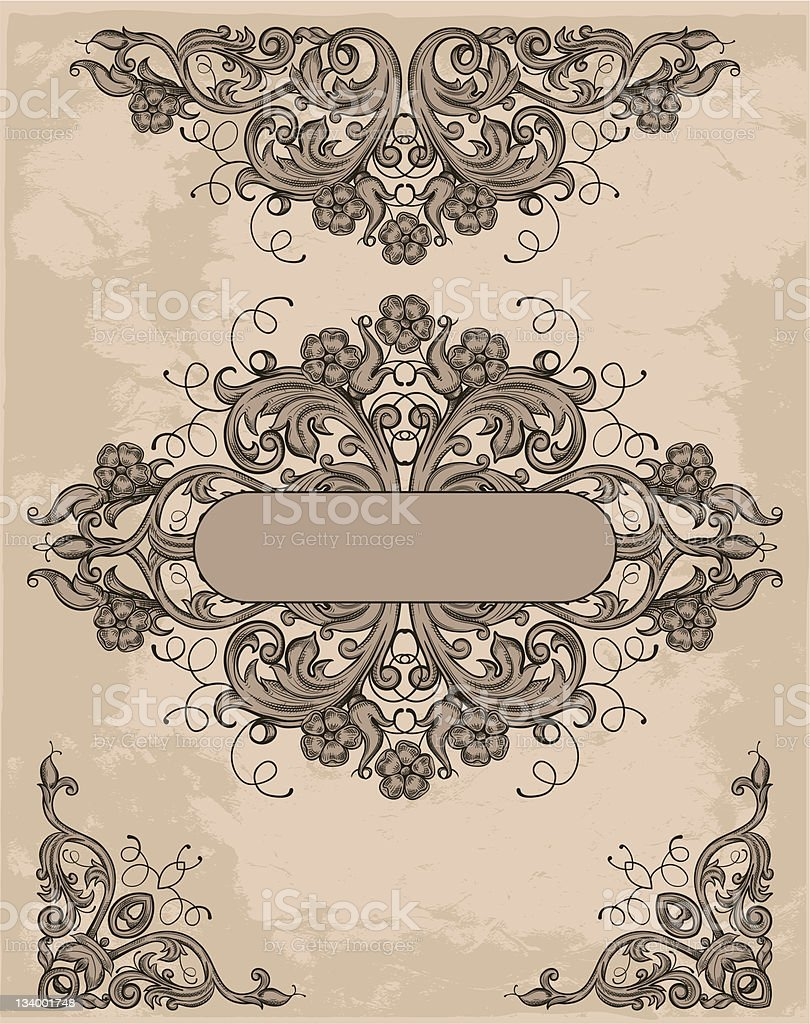 retro design elements royalty-free stock vector art