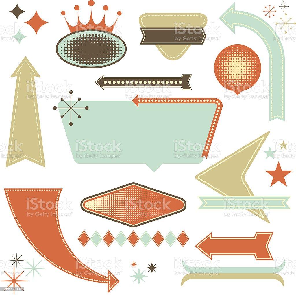 Retro Design Elements vector art illustration