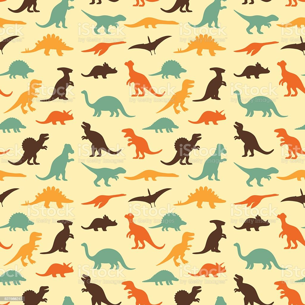 retro dinosaur pattern royalty-free stock vector art