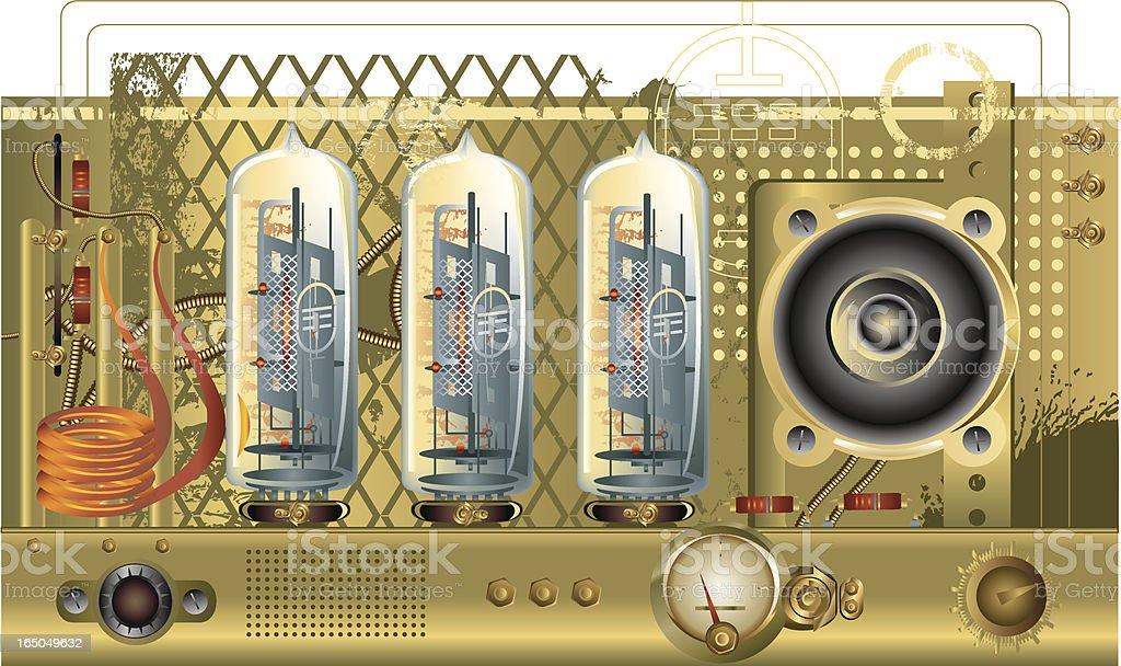 Retro electronic vector art illustration